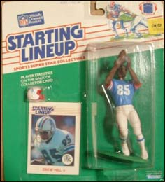 Houston Oilers Kenner Starting Lineup Card 1988  DREW HILL