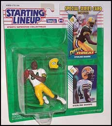 Starting Lineup Sterling Sharpe sports figure 1993 Kenner Packers SLU NFL RARE!!