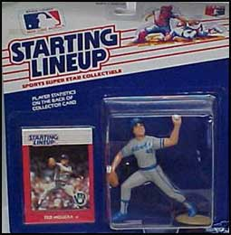 Loose With Card 1988  TED HIGUERA MILWAUKEE BREWERS SLU Starting Lineup